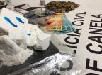 Polícia de Canela apreende meio quilo de cocaína, a maior apreensão de drogas do ano na cidade Polícia Civil/Divulgação