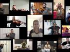 """VÍDEO: Orquestra de Câmara de Bento entoa a canção """"Romaria"""" Reprodução/"""