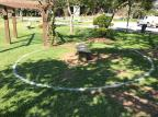 Parques de Farroupilha recebem demarcação para orientar distanciamento Renata Agazzi / Divulgação/Divulgação