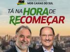 MDB de Caxias investe na transferência de votos de Sartori para Búrigo MDB Caxias/Divulgação