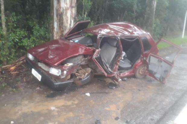 Homem morre em acidente na BR-470 em Vila Flores Corpo de Bombeiros de Veranópolis/Divulgação