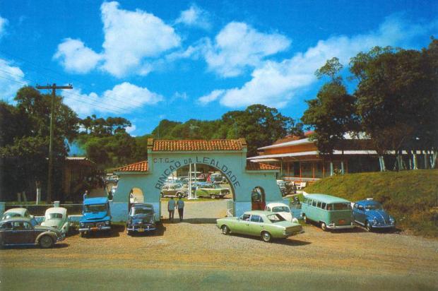 Pórtico do Rincão da Lealdade nos anos 1970 Arquivo Histórico Municipal João Spadari Adami/divulgação