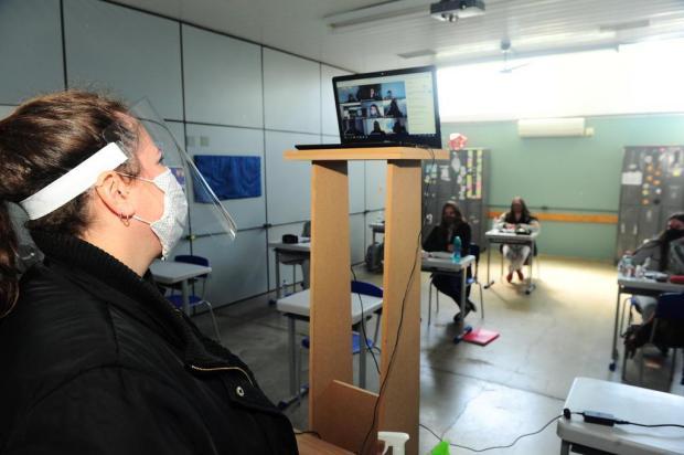 Em São Marcos, 22 alunos voltaram às aulas presenciais em uma das escolas de Ensino Médio Porthus Junior/Agencia RBS
