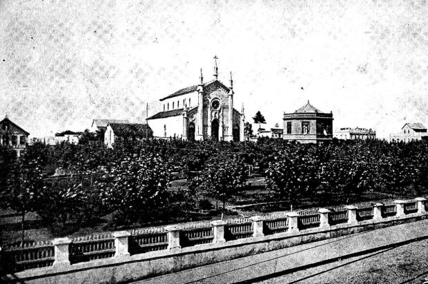 O chalé da Praça Dante Alighieri em 1917 Arquivo Histórico Municipal João Spadari Adami / Divulgação/Divulgação