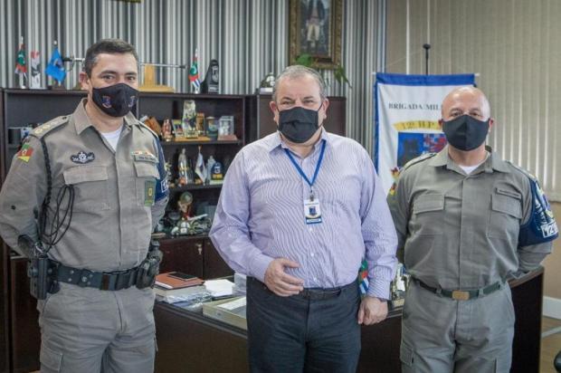 Pré-candidato do Patriota à prefeitura de Caxias mantém contatos sobre segurança Lucas Rissinger/Divulgação