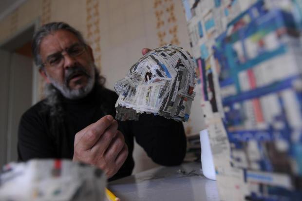 A arte não para #17: Jorge Valmini prepara os Navegantes Espaciais Marcelo Casagrande/Agencia RBS