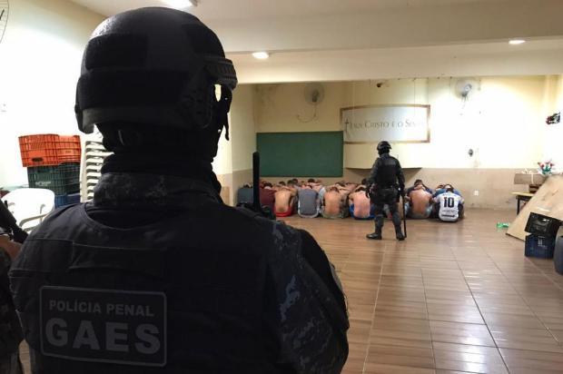 Investida busca celulares de líderes de facção dentro do presídio de Canela Polícia Civil/Divulgação