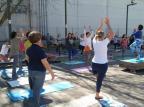 Encontro Yoga na Praça volta a ser realizado neste sábado Vera Damian/Divulgação