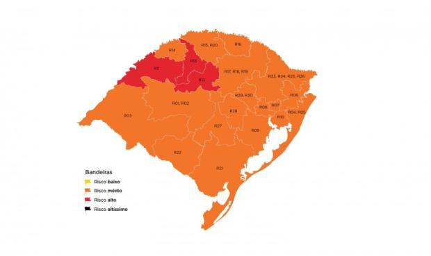 Serra permanece em bandeira laranja e tem melhora no índice final Governo do Rio Grande do Sul / Divulgação/Divulgação