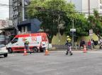 Acidente entre carro e moto deixa um ferido em Caxias André Fiedler/Agência RBS