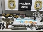 Polícia Civil apreende metralhadora em fábrica clandestina de armas em Caxias Polícia Civil / Divulgação/Divulgação