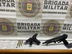 Dois homens são presos com drogas e armas em Farroupilha Brigada Militar/Divulgação