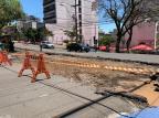 Obras nos corredores da Rua Bento Gonçalves avançam e bloqueiam a Rua Marquês do Herval, em Caxias André Fiedler/Agência RBS