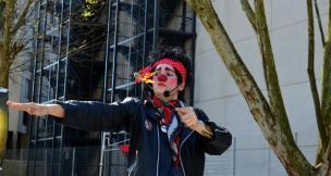 Odelta Simonetti representa palhaçaria feminina em programação circense Neli Alvanoz/Divulgação