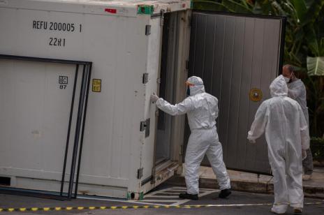 Hospitais de Caxias do Sul têm estoques de oxigênio suficientes para atendimento na cidade (Michael DANTAS / AFP/AFP)